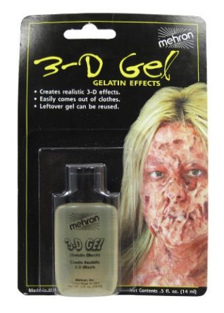 Mehron 3D Gel  Clear - 14 mls