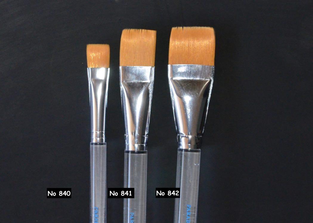 Mehron 1 Inch Prisma Brush ME842 -2.54cm Flat