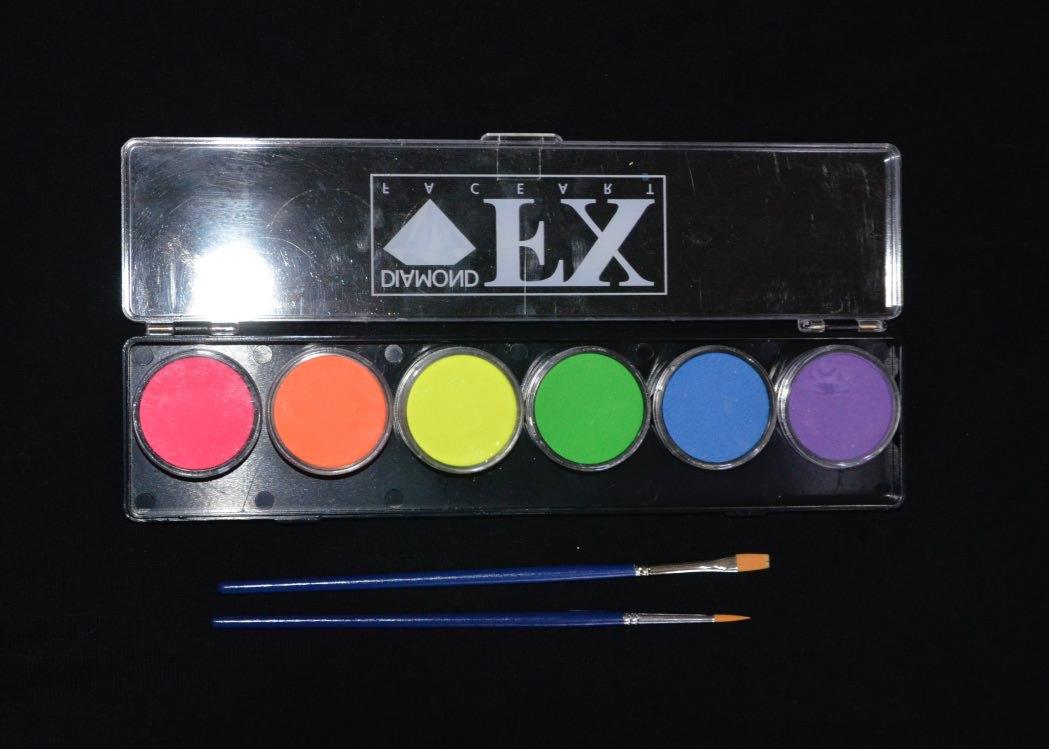 Neon Palette - 6 Colours - 10 grams