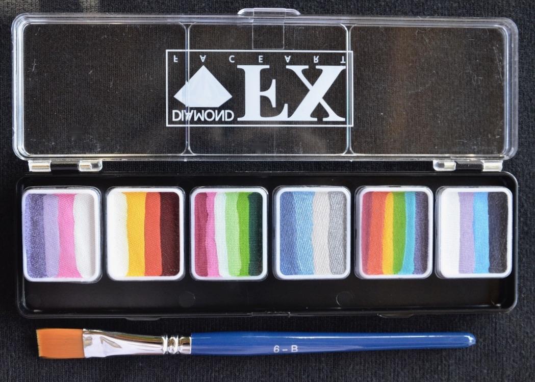 6 Rainbow Palette - 6 Grams - Sparkle