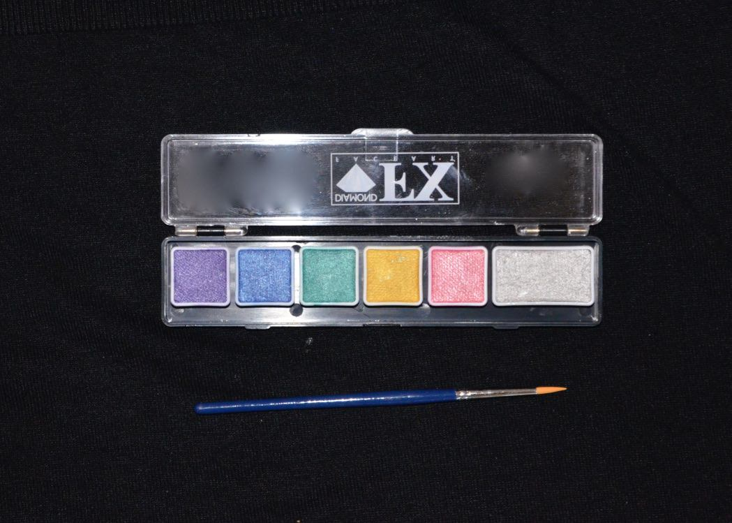 Mini Palette - 6 Colours -Metallic Colours