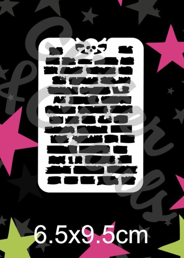 Glitter & Ghouls Graffiti Brick Wall