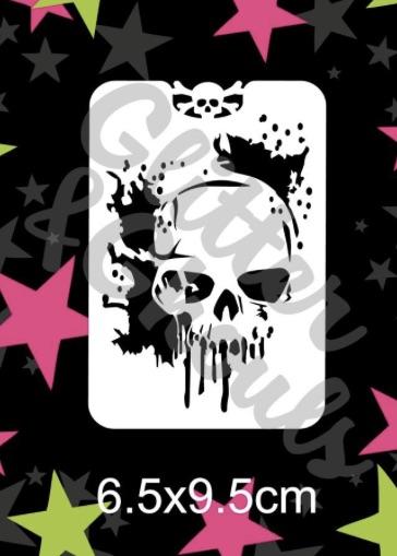 Glitter & Ghouls Melting Skull