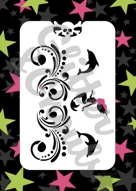 Glitter & Ghouls Mermaid Swirls