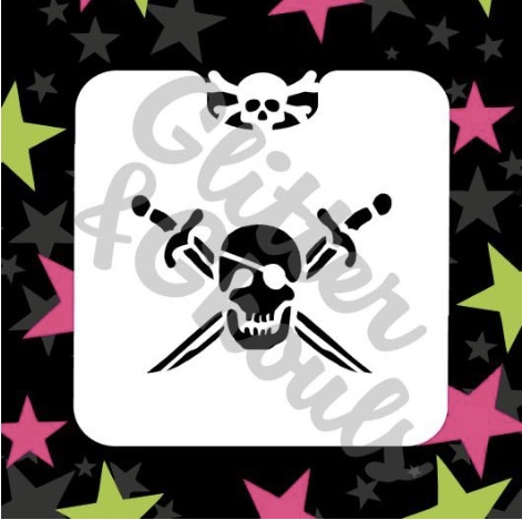 Glitter & Ghouls Pirate Skull Mini