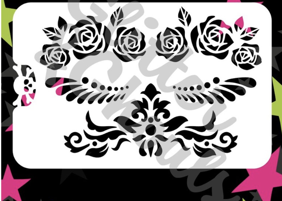Glitter & Ghouls - Rose Mask Ensemble