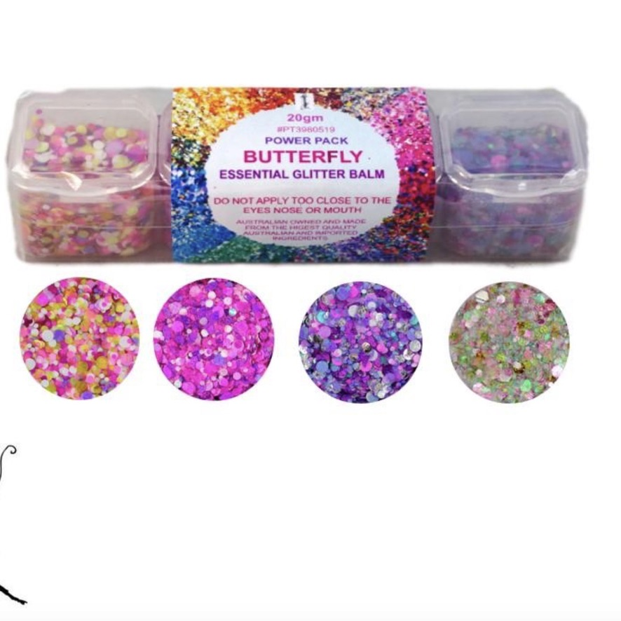 Essential Glitter Balm - Butterfly Pack 20gm