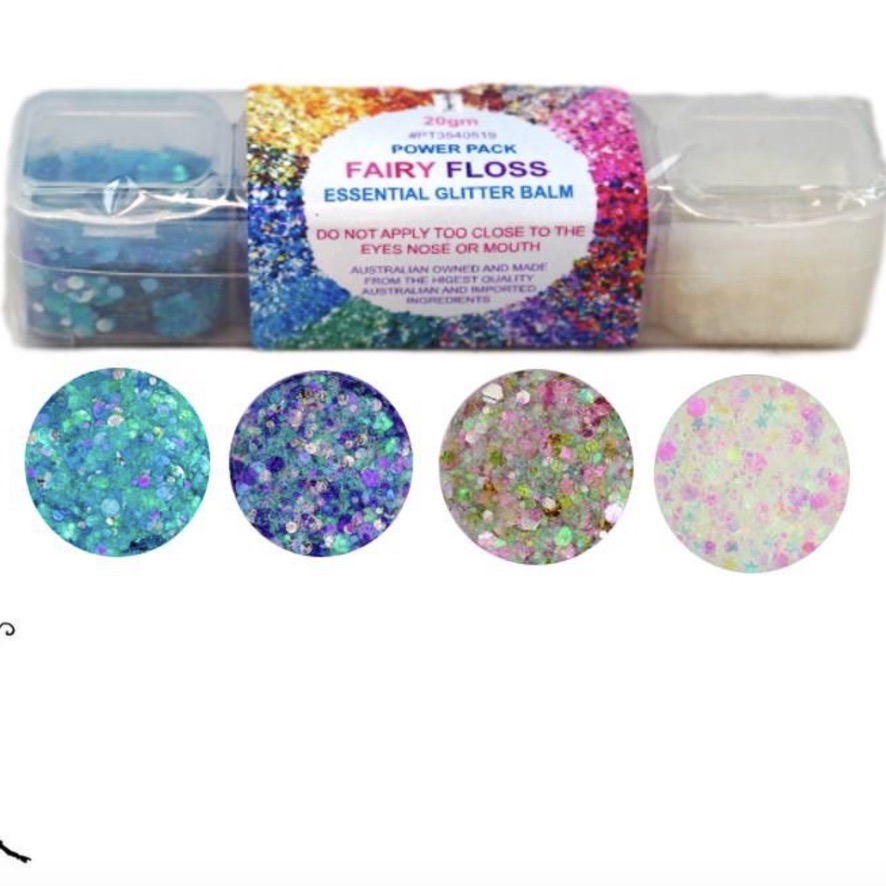 Essential Glitter Balm - Fairy Floss Pack 20gm