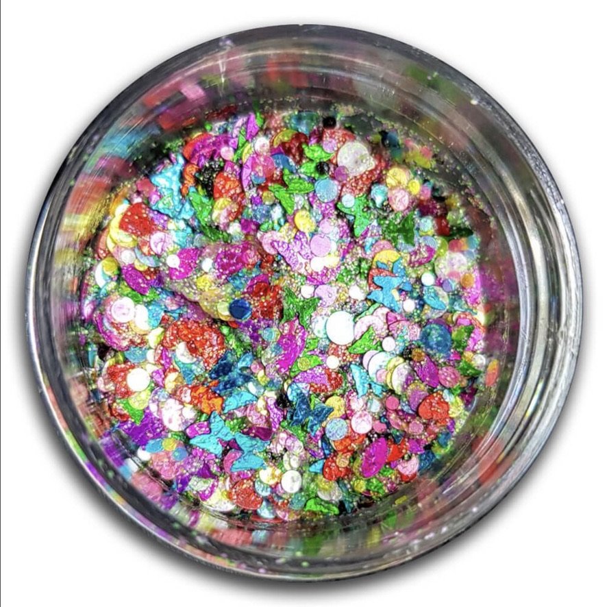 Essential Glitter Balm - UV Over the Rainbow 10gm