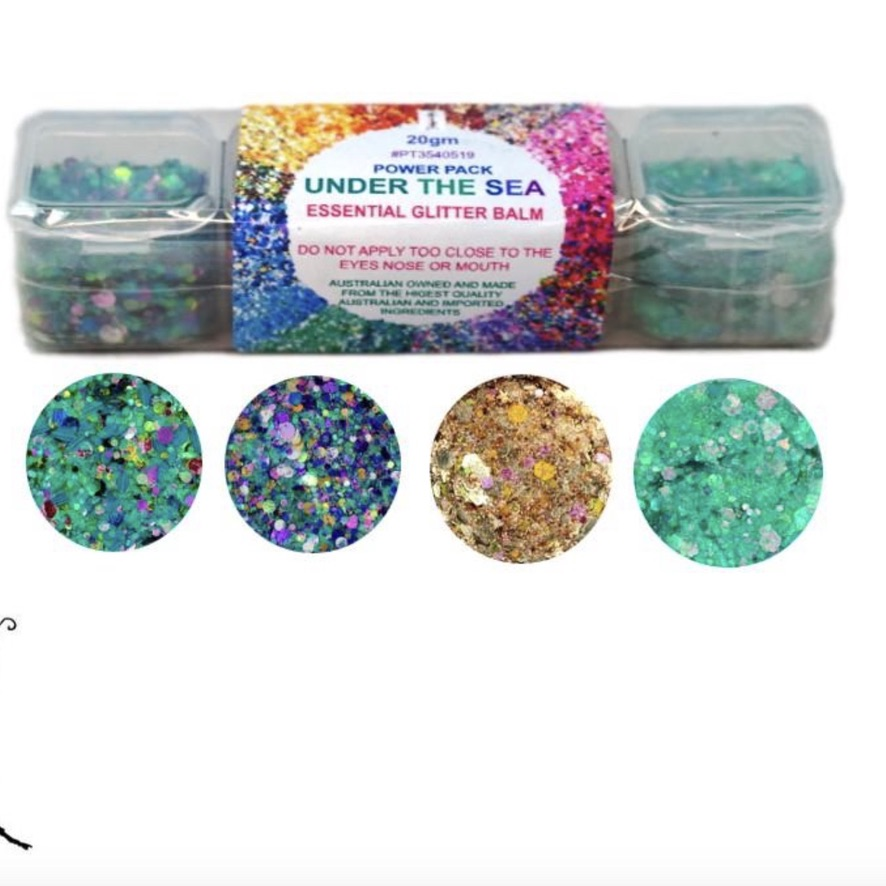 Essential Glitter Balm - Under the Sea Pack 20gm